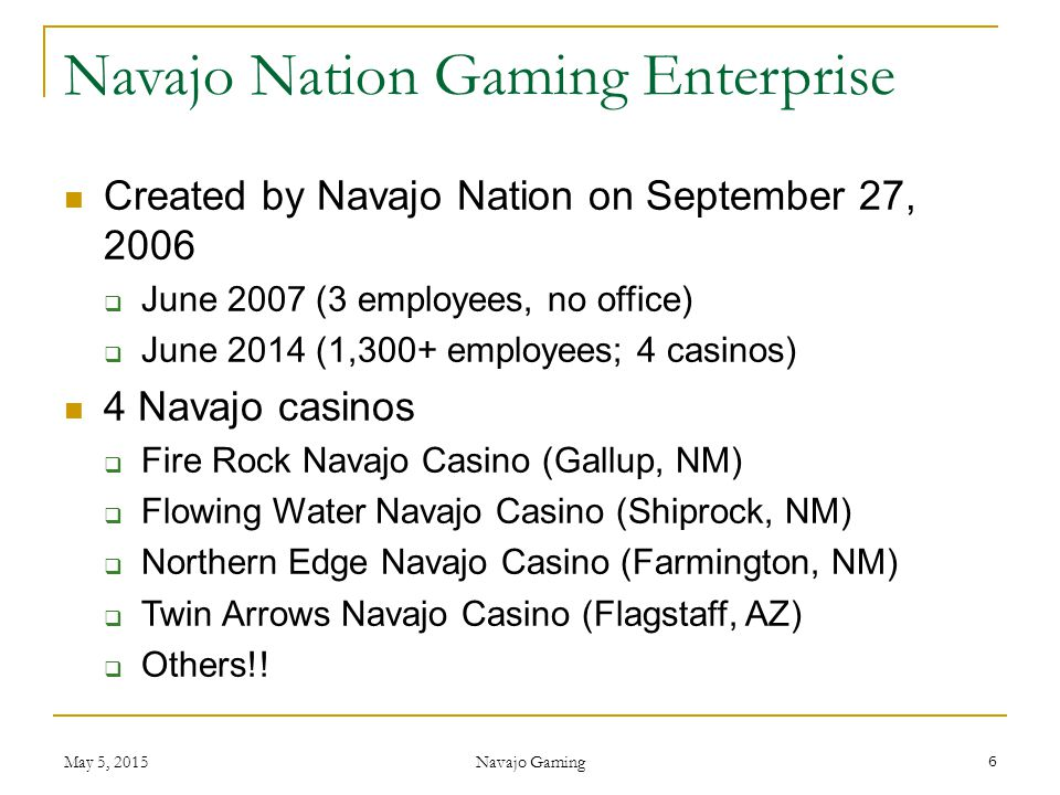 Navajo Nation Gaming Enterprise