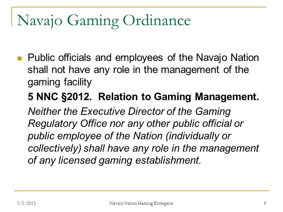 Navajo Gaming Ordinance