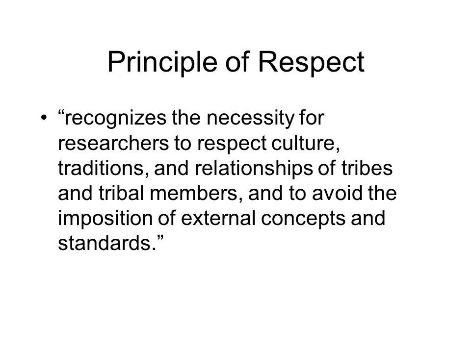 Principle of Respect