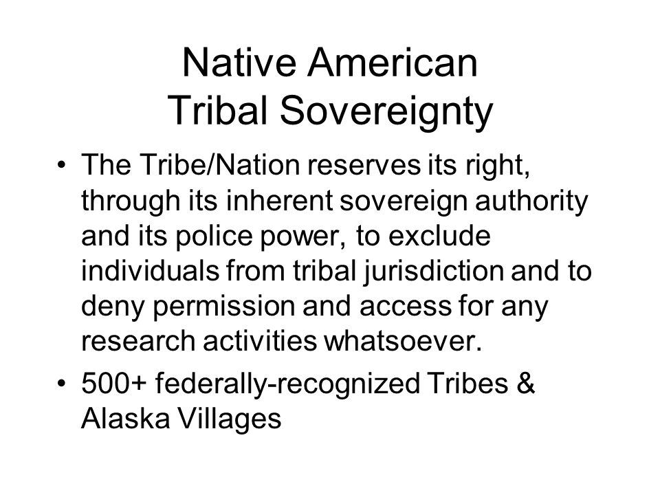 Native American Tribal Sovereignty