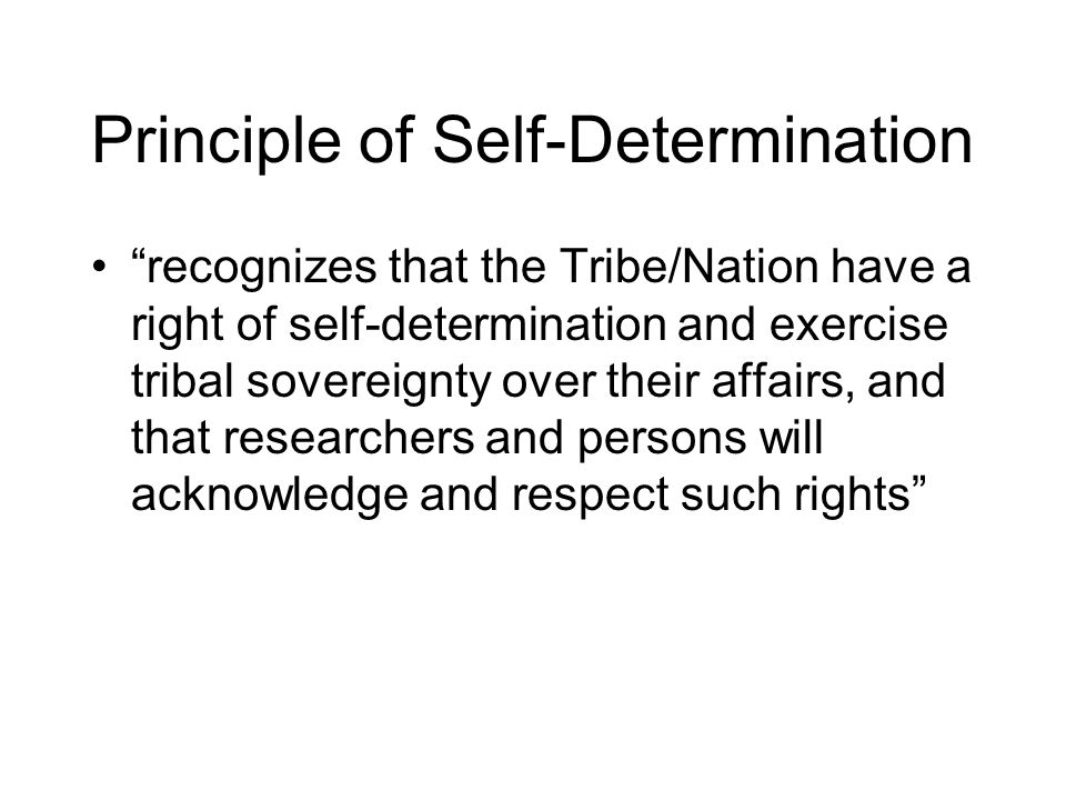 Principle of Self-Determination