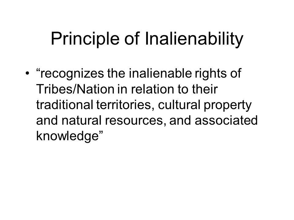 Principle of Inalienability