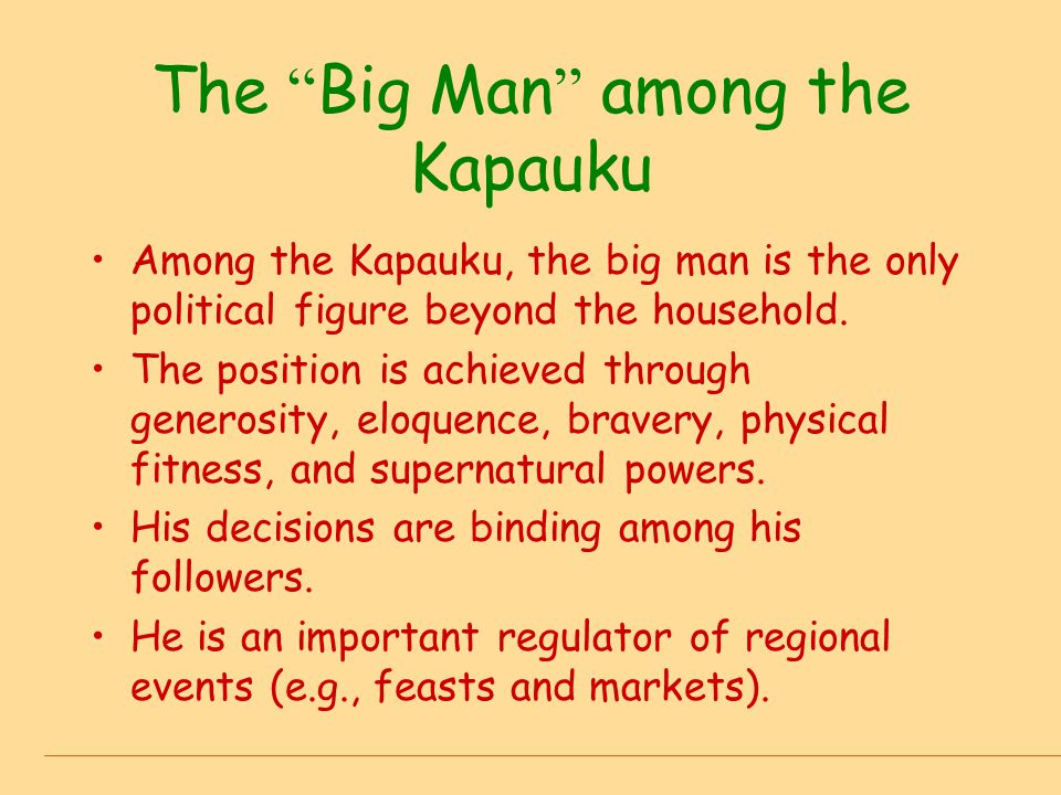 The Big Man among the Kapauku