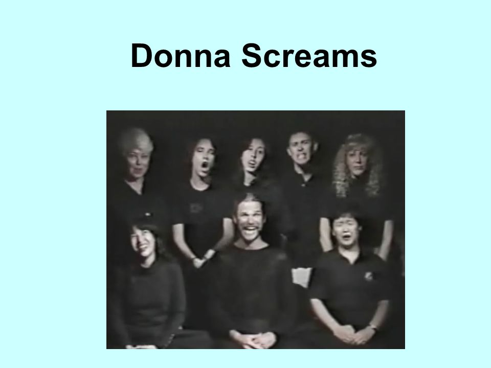 Donna Screams Coordination of many different groups or people