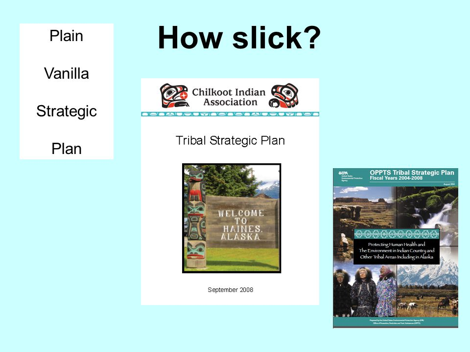 How slick Plain Vanilla Strategic Plan