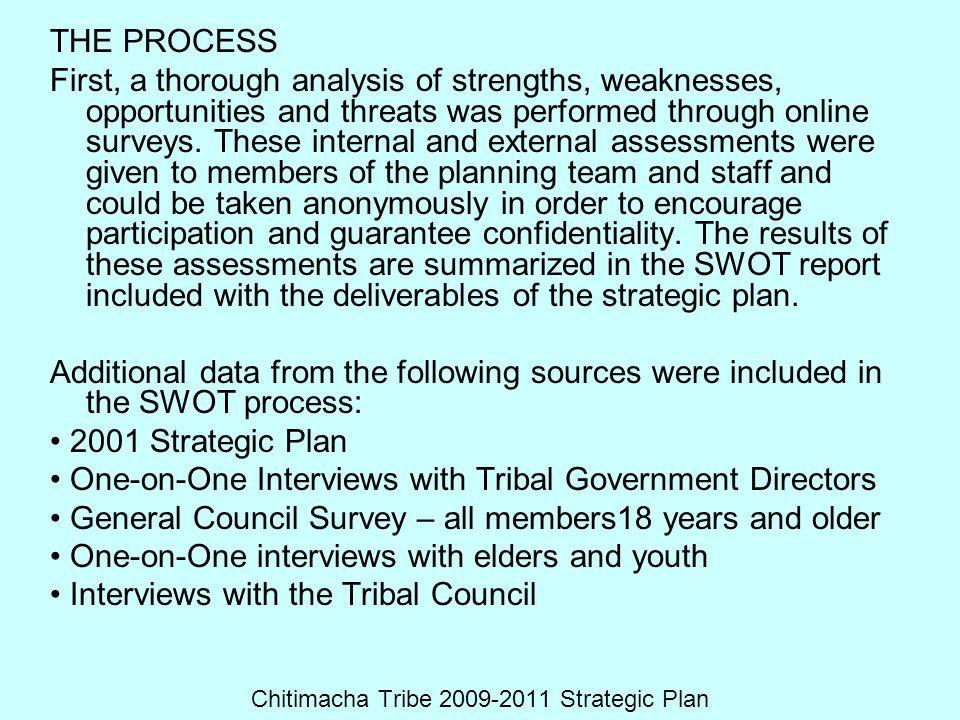 Chitimacha Tribe 2009-2011 Strategic Plan