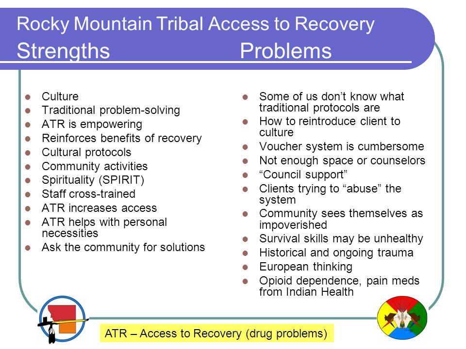 Rocky Mountain Tribal Access to Recovery Strengths Problems