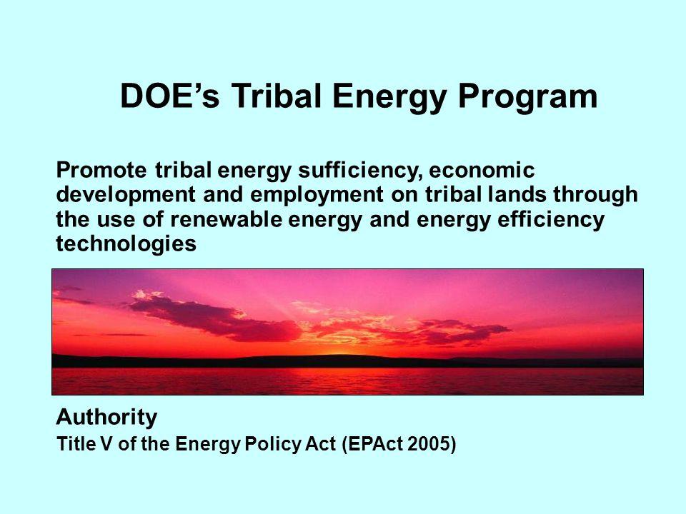 DOE's Tribal Energy Program
