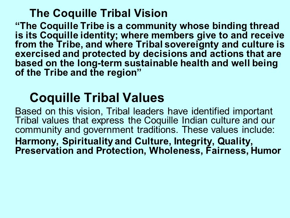 Coquille Tribal Values