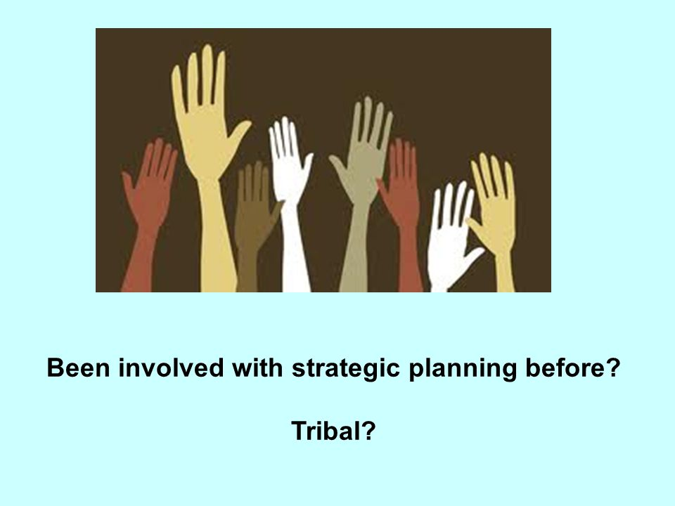 Been involved with strategic planning before