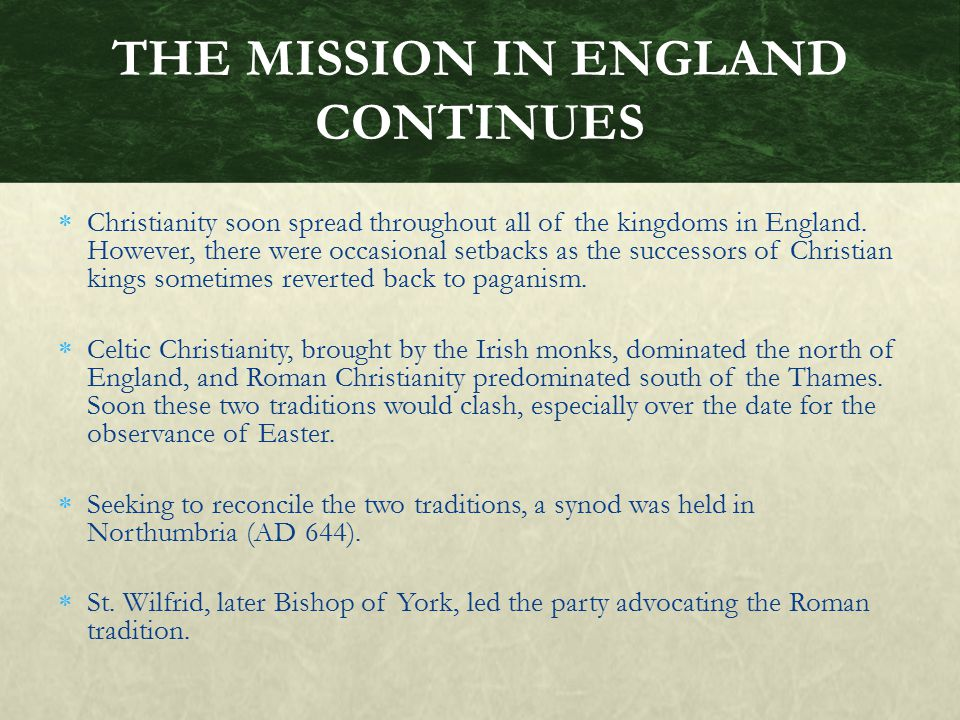 THE MISSION IN ENGLAND CONTINUES
