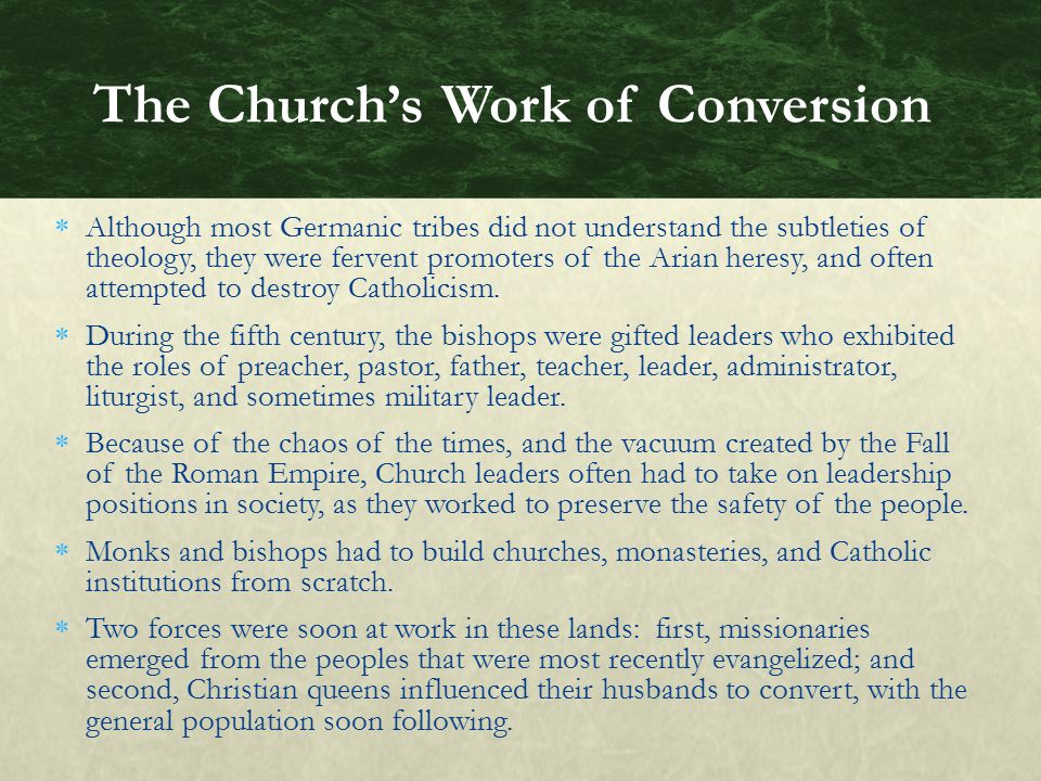 The Church's Work of Conversion