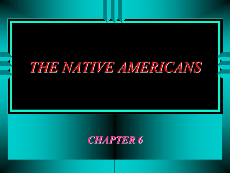 THE NATIVE AMERICANS CHAPTER 6