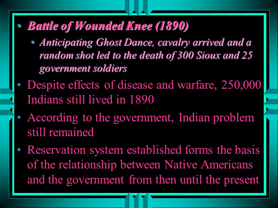 Battle of Wounded Knee (1890)