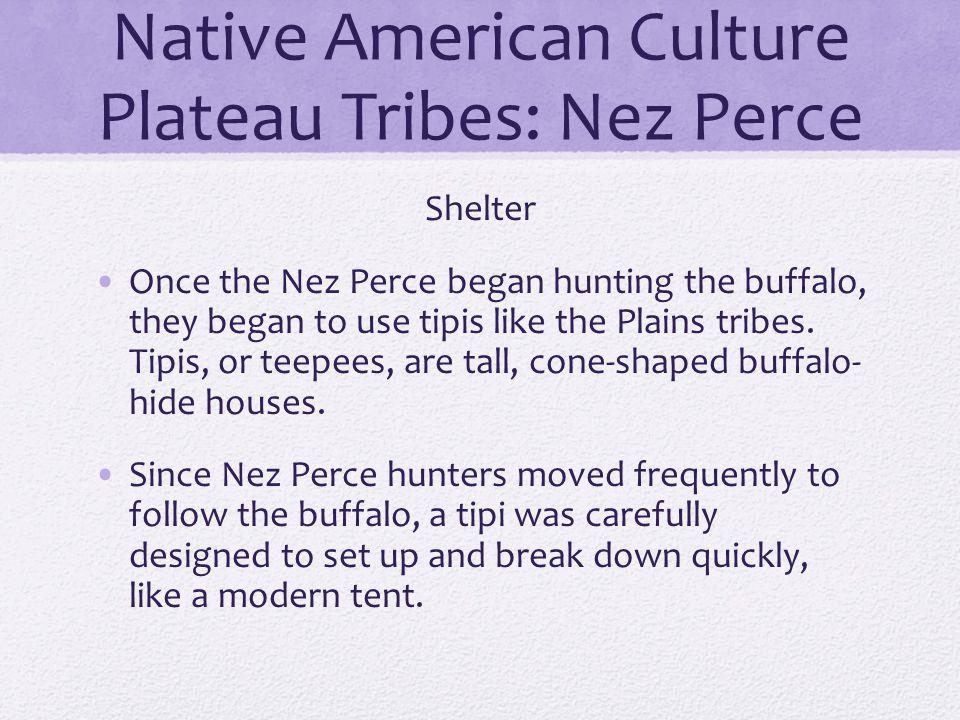 Native American Culture Plateau Tribes: Nez Perce