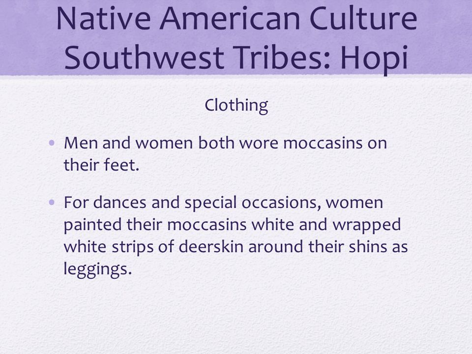 Native American Culture Southwest Tribes: Hopi
