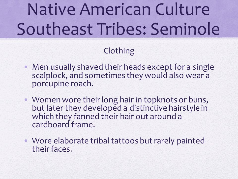 Native American Culture Southeast Tribes: Seminole