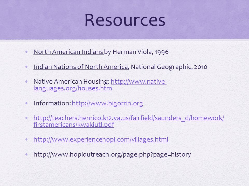 Resources North American Indians by Herman Viola, 1996