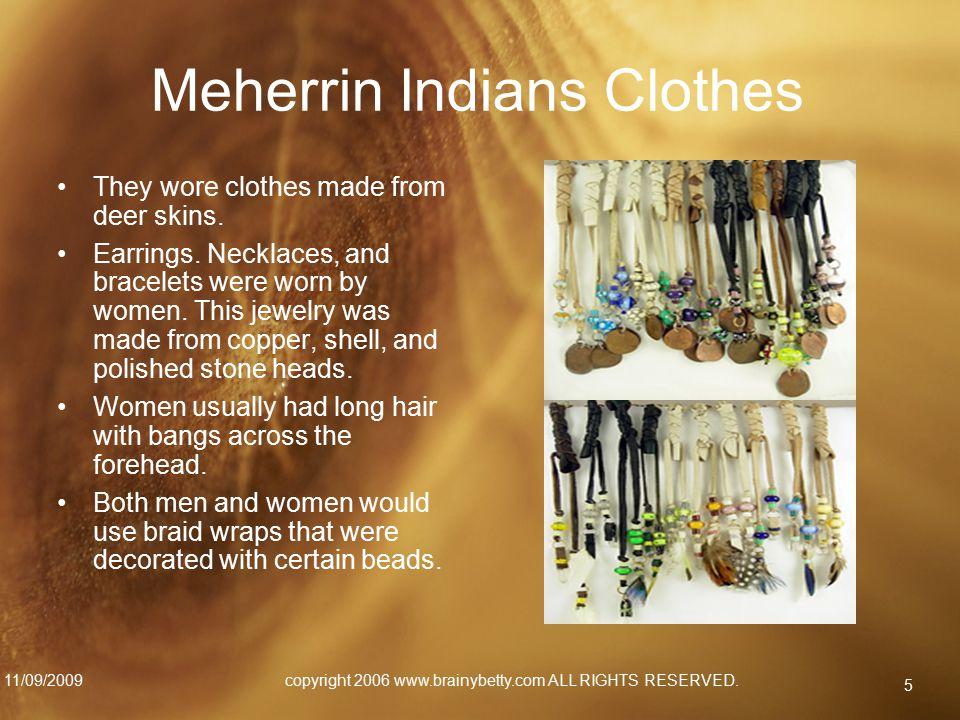 Meherrin Indians Clothes