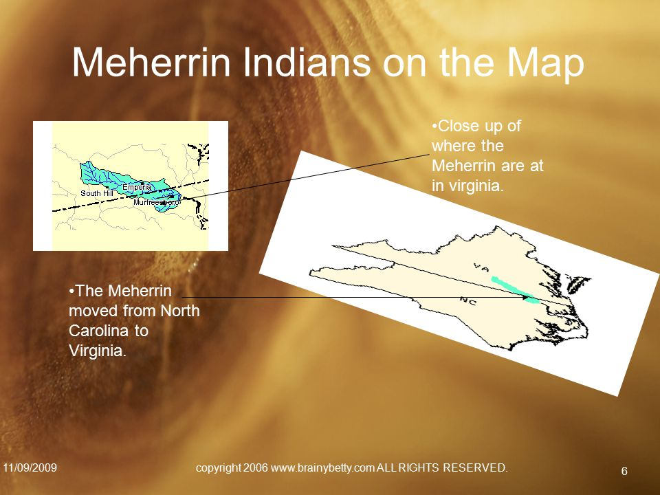 Meherrin Indians on the Map