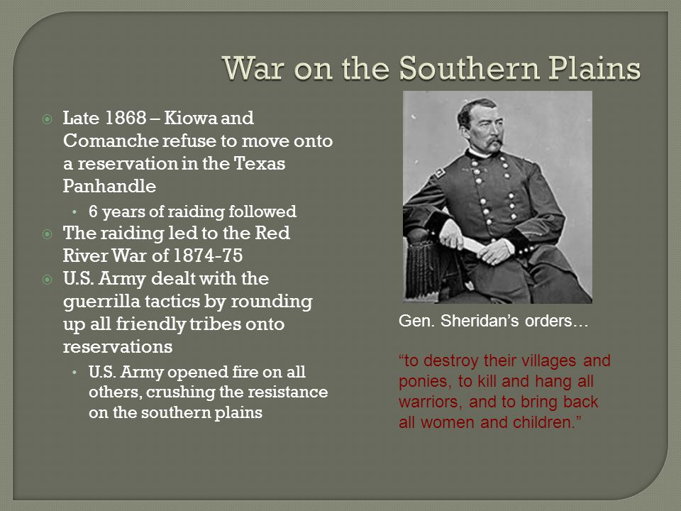 War on the Southern Plains