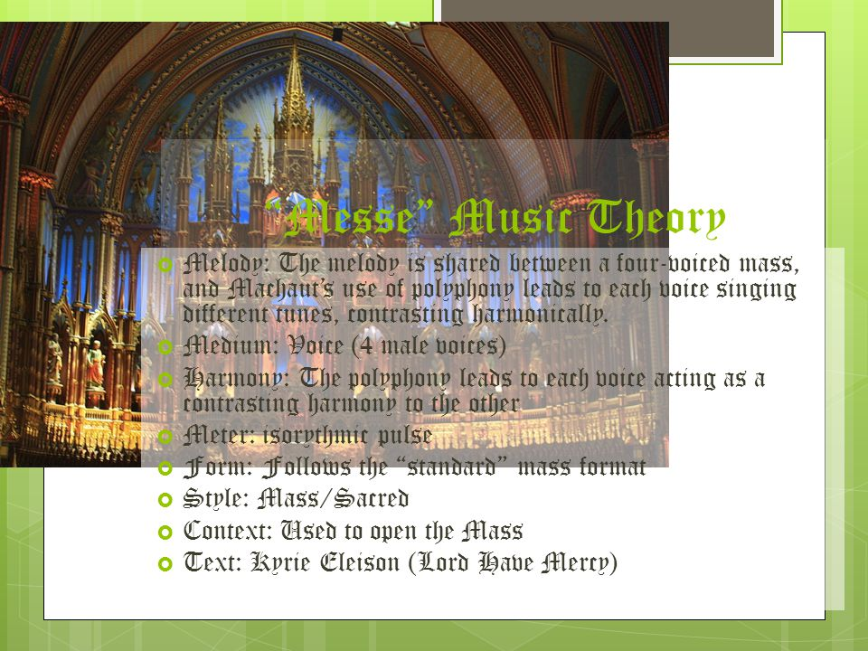 Messe Music Theory