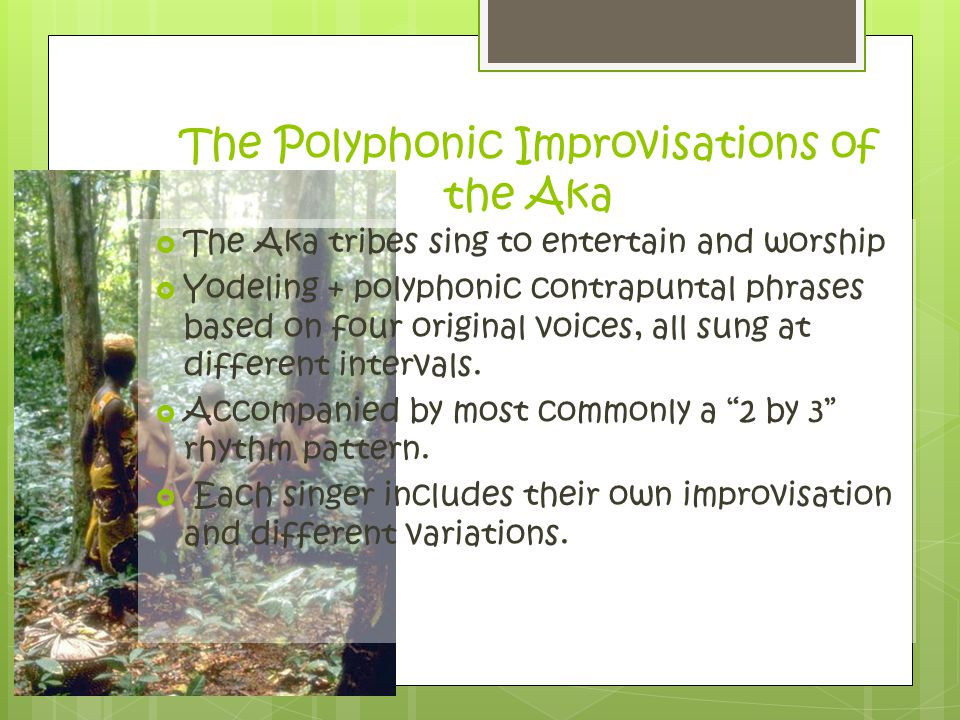 The Polyphonic Improvisations of the Aka