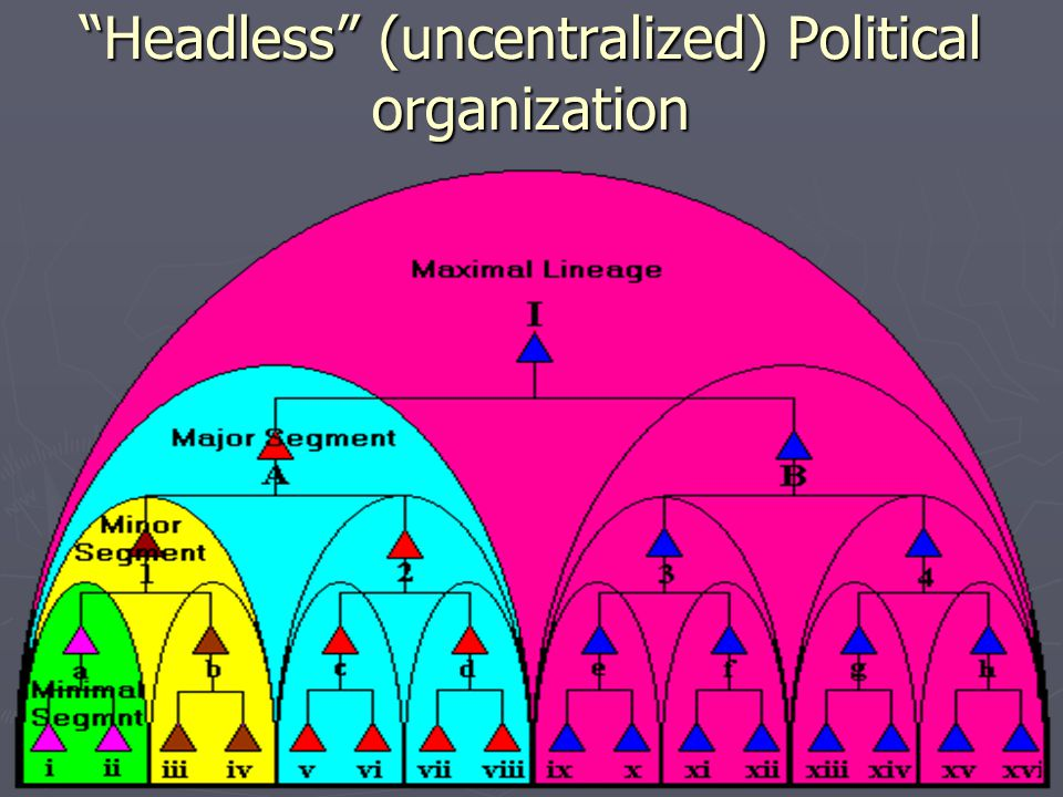 Headless (uncentralized) Political organization