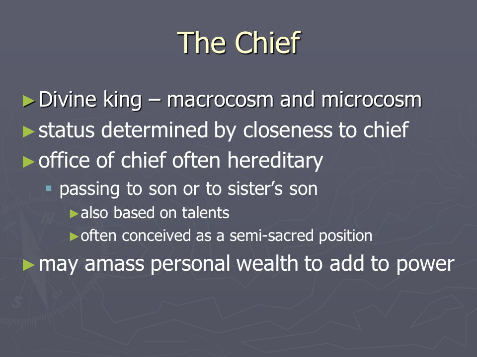 The Chief Divine king – macrocosm and microcosm