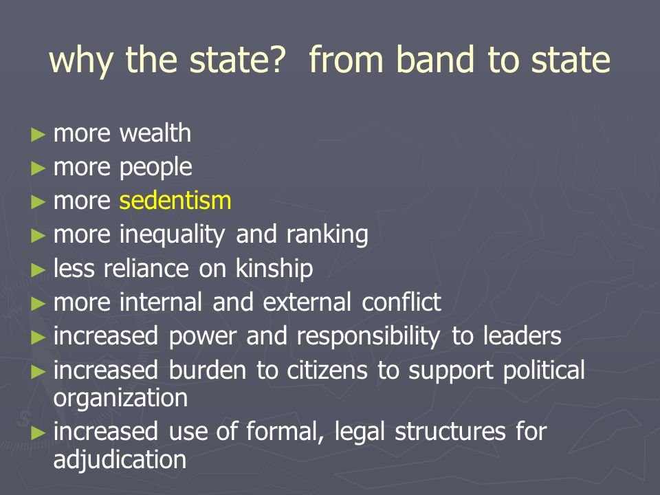 why the state from band to state