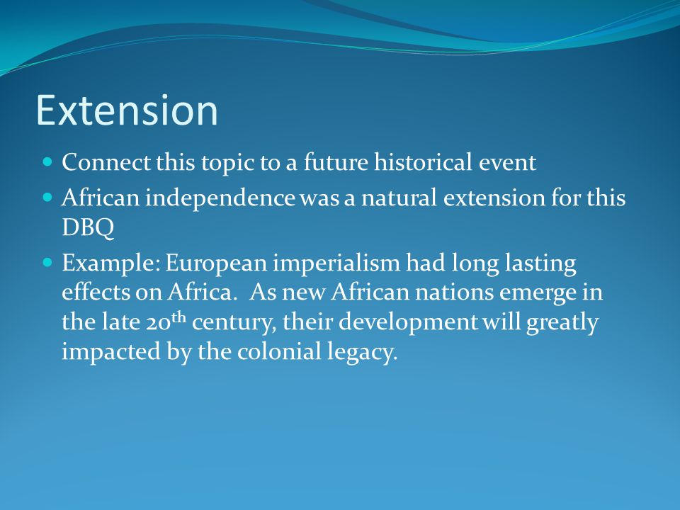 Extension Connect this topic to a future historical event