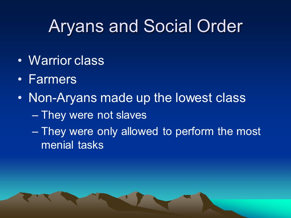 Aryans and Social Order