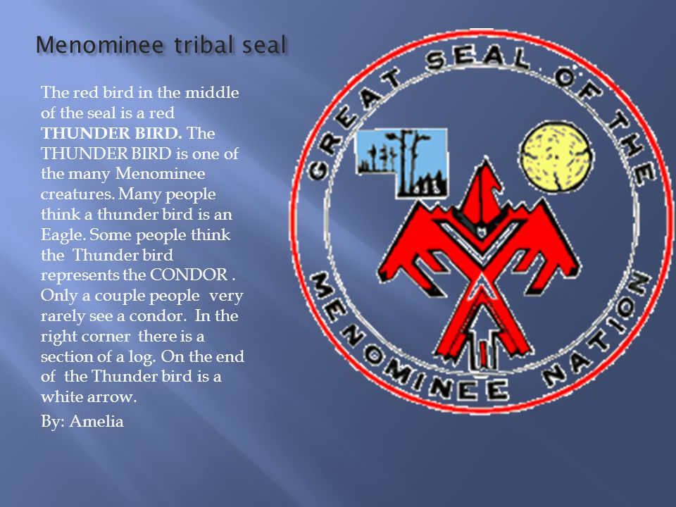 Menominee tribal seal