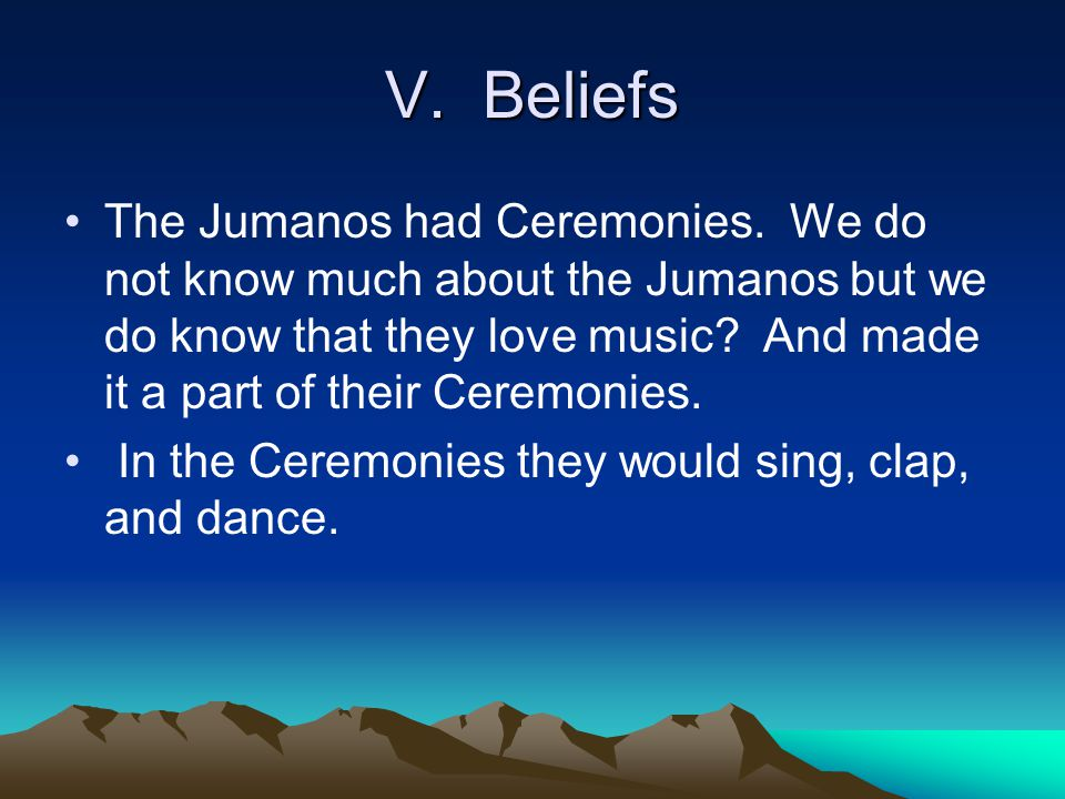 V. Beliefs