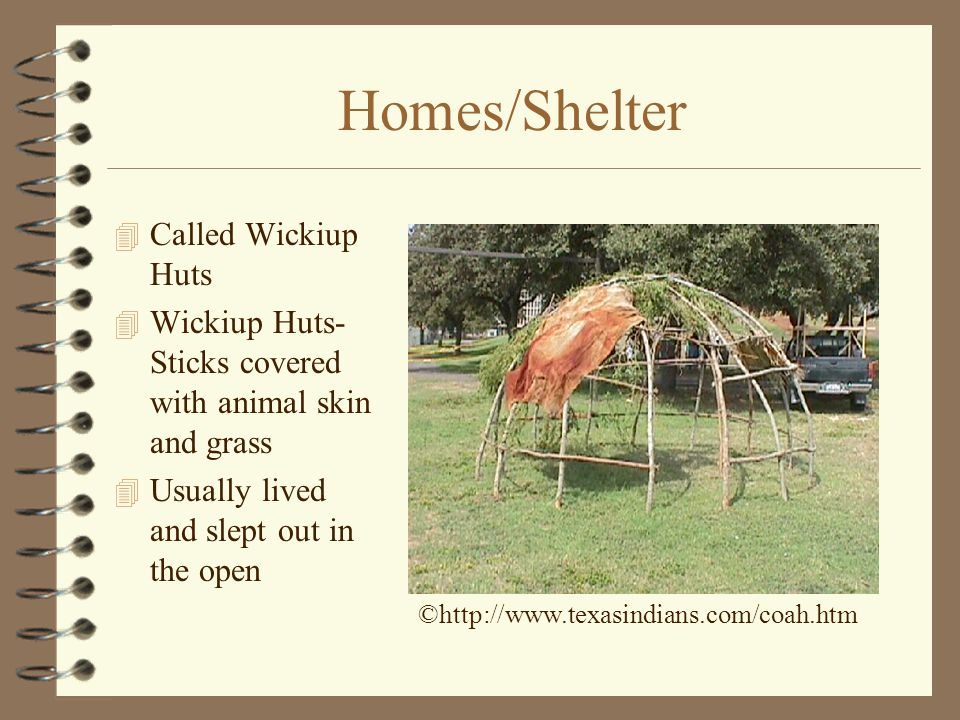 Homes/Shelter Called Wickiup Huts