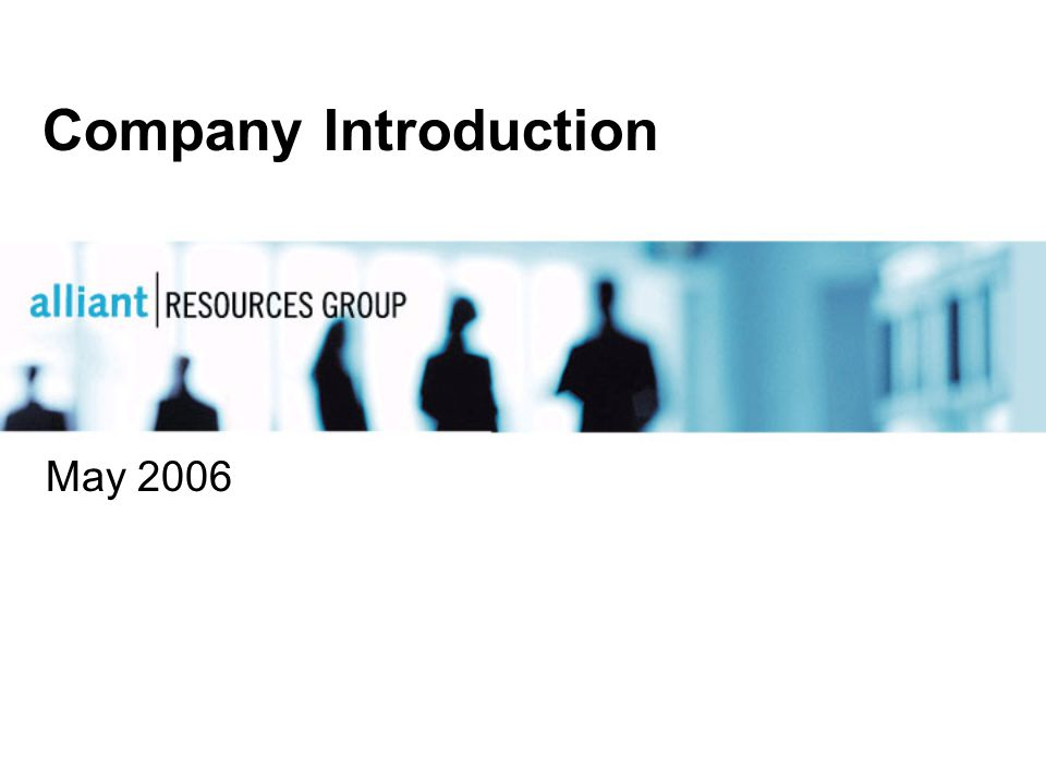 Company Introduction May 2006