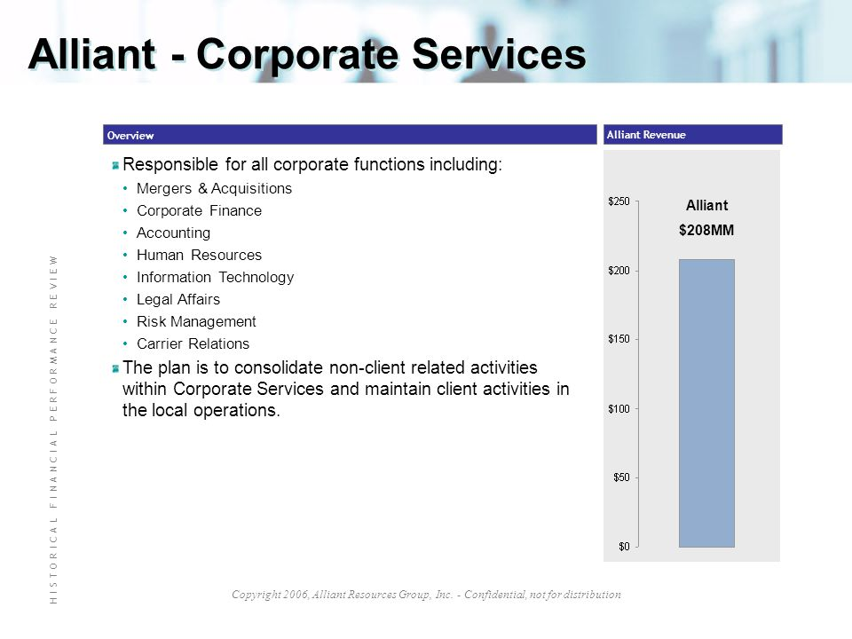 Alliant - Corporate Services