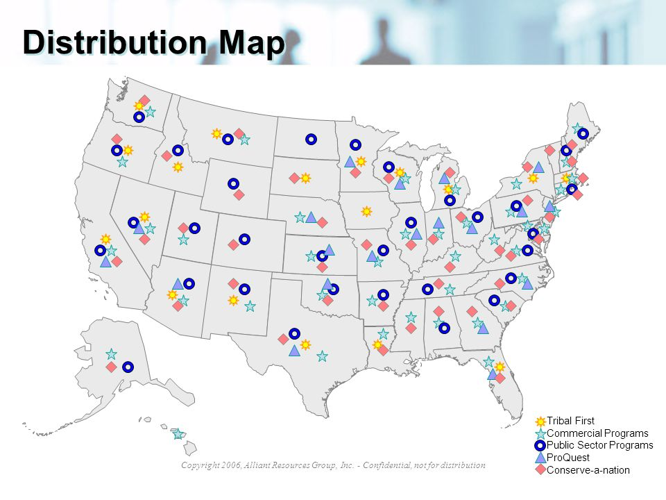 Distribution Map Tribal First Commercial Programs