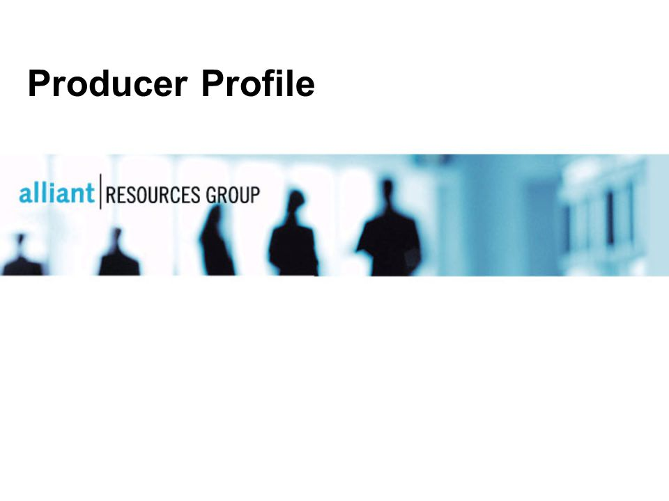 Producer Profile