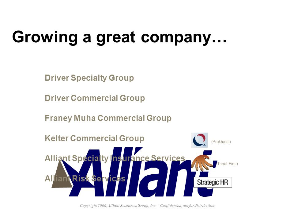 Growing a great company…