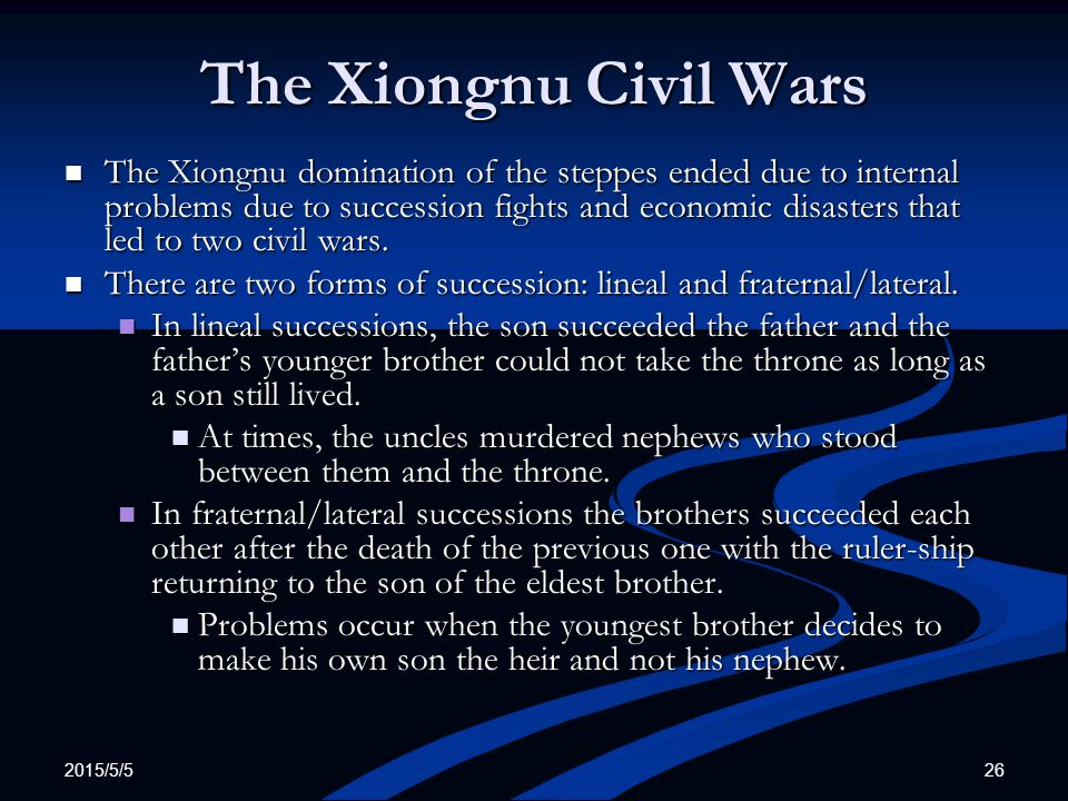 The Xiongnu Civil Wars
