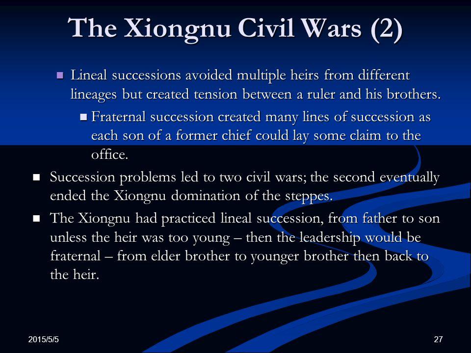 The Xiongnu Civil Wars (2)