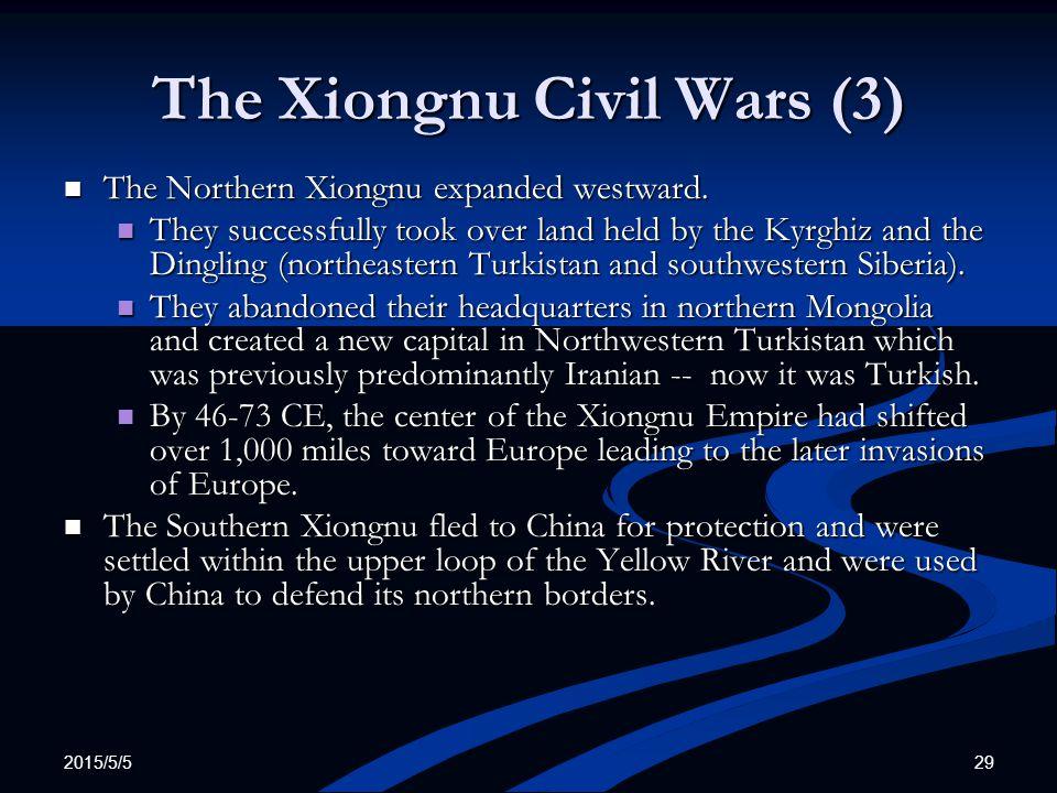 The Xiongnu Civil Wars (3)