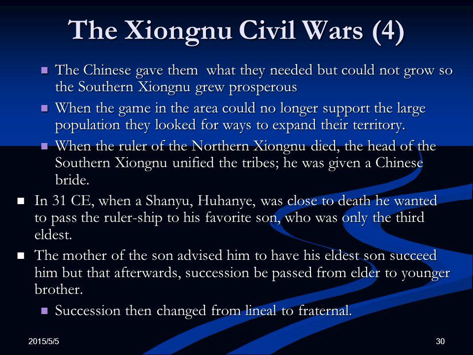 The Xiongnu Civil Wars (4)
