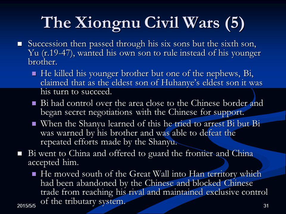 The Xiongnu Civil Wars (5)