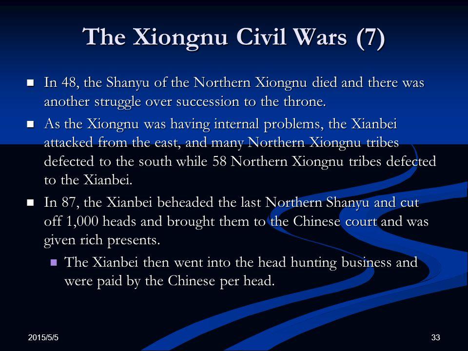 The Xiongnu Civil Wars (7)
