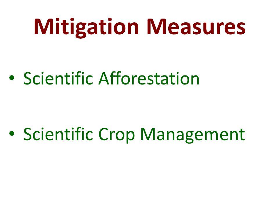 Mitigation Measures Scientific Afforestation