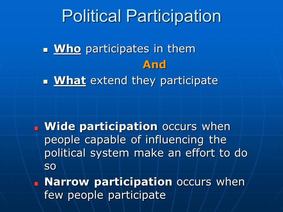 Political Participation