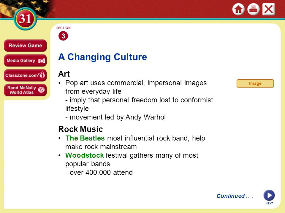 A Changing Culture Art Rock Music 3