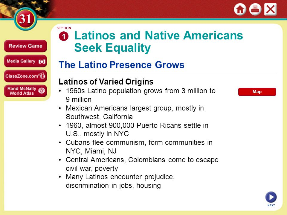 Latinos and Native Americans Seek Equality